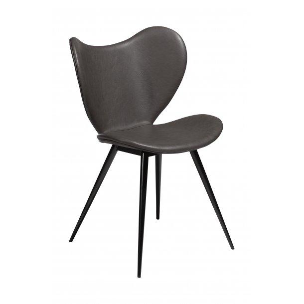 Dreamer spisestuestol vintage grå PU kunstlæder, sorte ben.