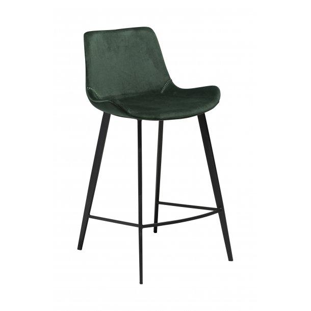 Hype counterstol emerald grøn velour, sorte ben.