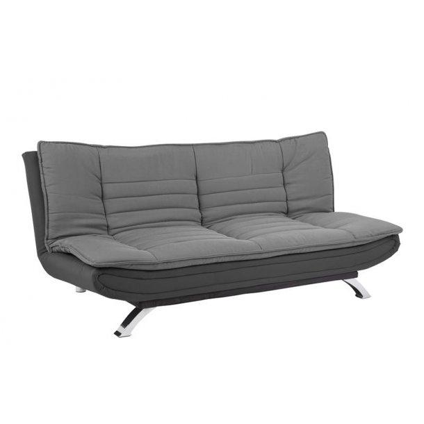 Fanny sovesofa med top i lys grå og bunden i mørk grå.