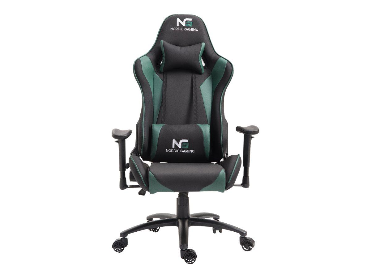 Nordic Gaming Racer gamer stol svart og grønn.