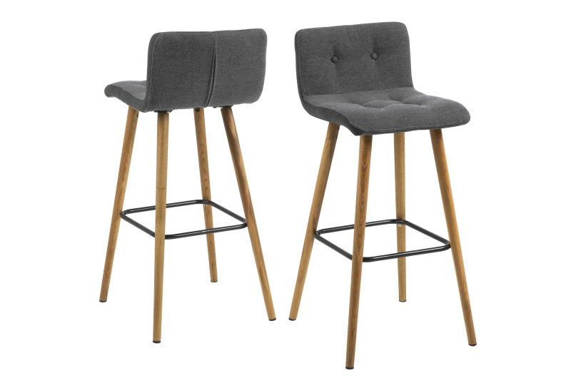 frise barhocker hellgrau dunkelgrau mit massiven holzbeinen ge lt kaufen sie hier. Black Bedroom Furniture Sets. Home Design Ideas