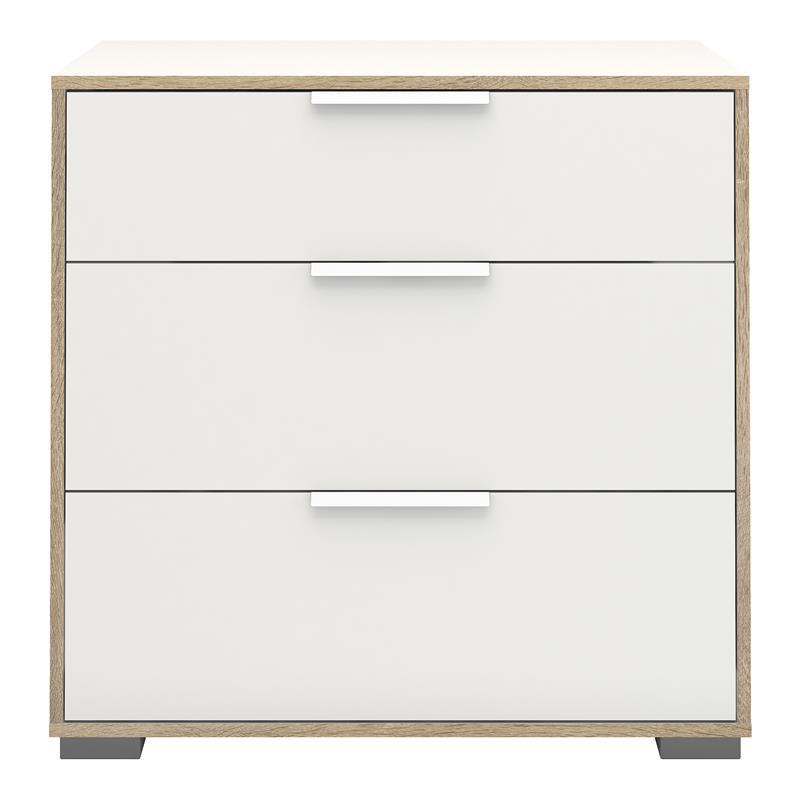 signe kommode mit 1 kleinen und 2 grossen schubladen wei. Black Bedroom Furniture Sets. Home Design Ideas