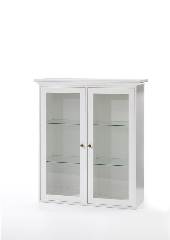 venedig vitrinenwandschrank mit 2 glast ren breite 99 cm h he 112 5 cm wei bestellen sie hier. Black Bedroom Furniture Sets. Home Design Ideas