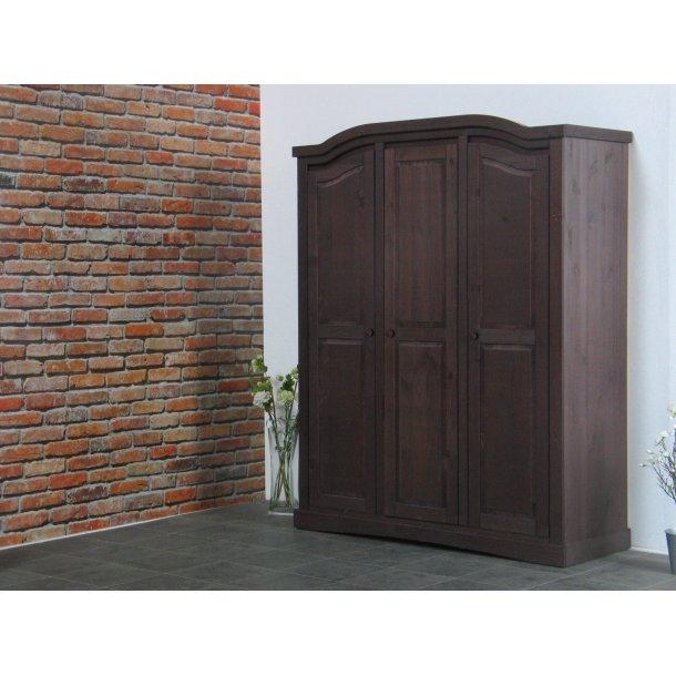 Rico klædeskab 3-dørs bredde 152 cm, højde 193 cm kolonial bejdse/voks.