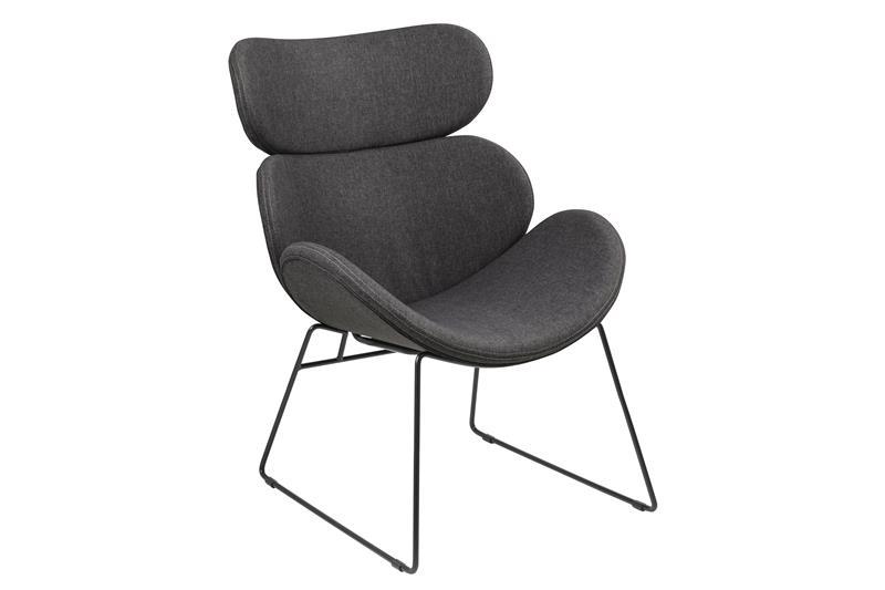 cazy sessel in grau mit schwarzen gestell bestellen sie hier. Black Bedroom Furniture Sets. Home Design Ideas