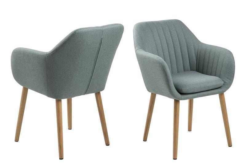 emil sessel in grau gr nen stoff mit vertikalen n hten bestellen sie hier. Black Bedroom Furniture Sets. Home Design Ideas