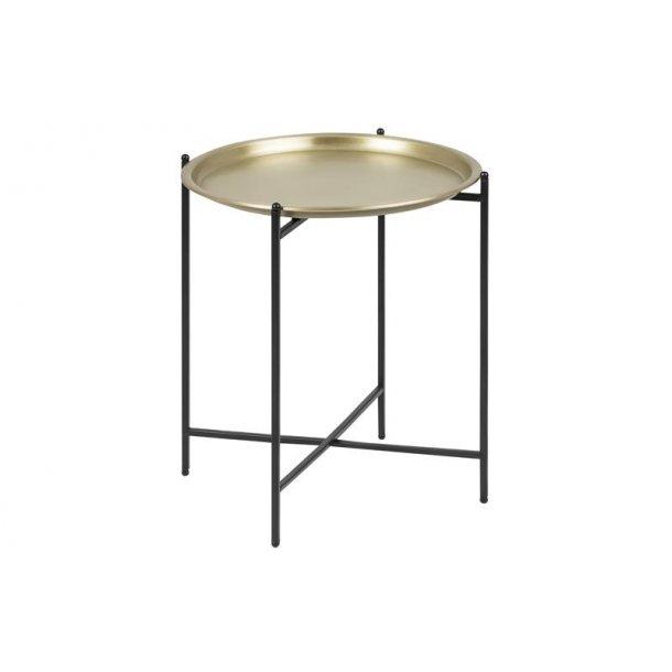 Ossi hjørnebord Ø39,5 cm messingfarvet og sort.