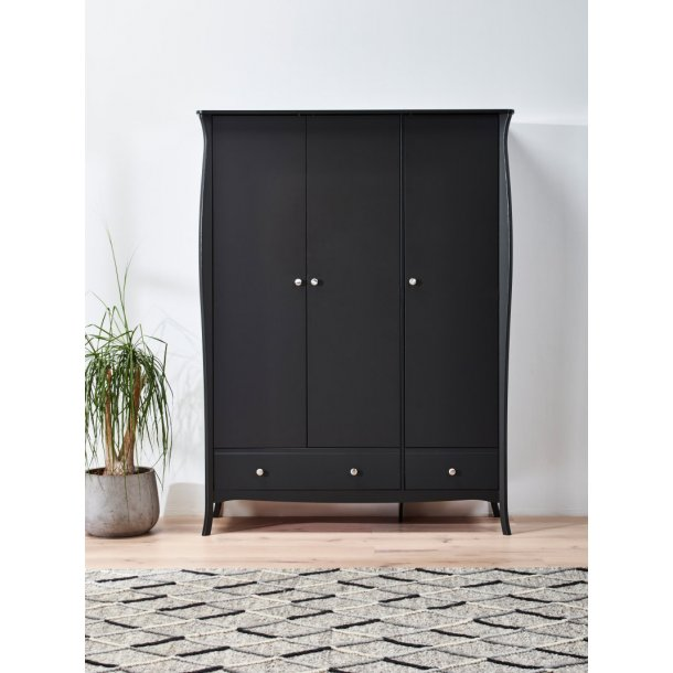 baroque kleiderschrank 3 t rig mit 2 schubladen breite 143 cm h he 192 cm in grau kaufen sie. Black Bedroom Furniture Sets. Home Design Ideas