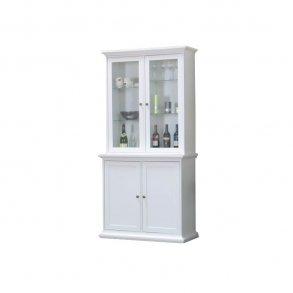 Hvit vitrineskap