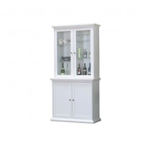 Hvidt vitrineskab