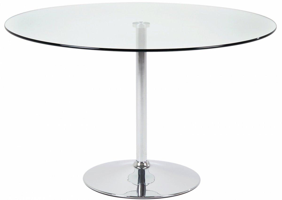 Spisebord Klint 90 x 140 cm med en klar glassplate og ben i