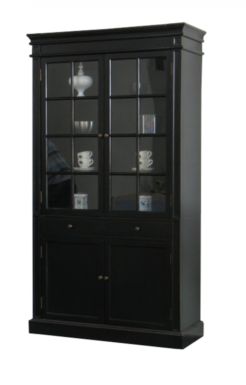 vitrinenschrank schwarz bestellen sie hier. Black Bedroom Furniture Sets. Home Design Ideas