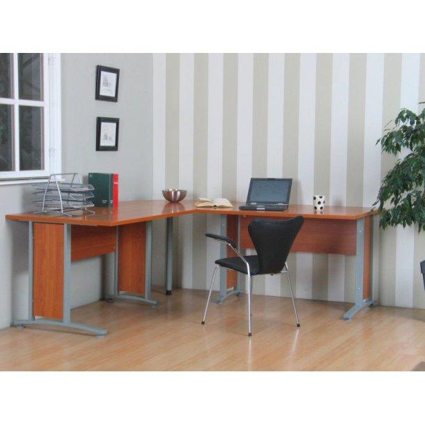 Hjørneskrivebord Prima i kirsebær dekor.