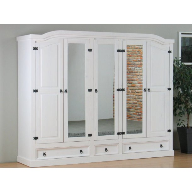 new mexico kleiderschrank 5 t rig mit 3 spiegelt ren 2 get felten t ren bestellen sie hier. Black Bedroom Furniture Sets. Home Design Ideas