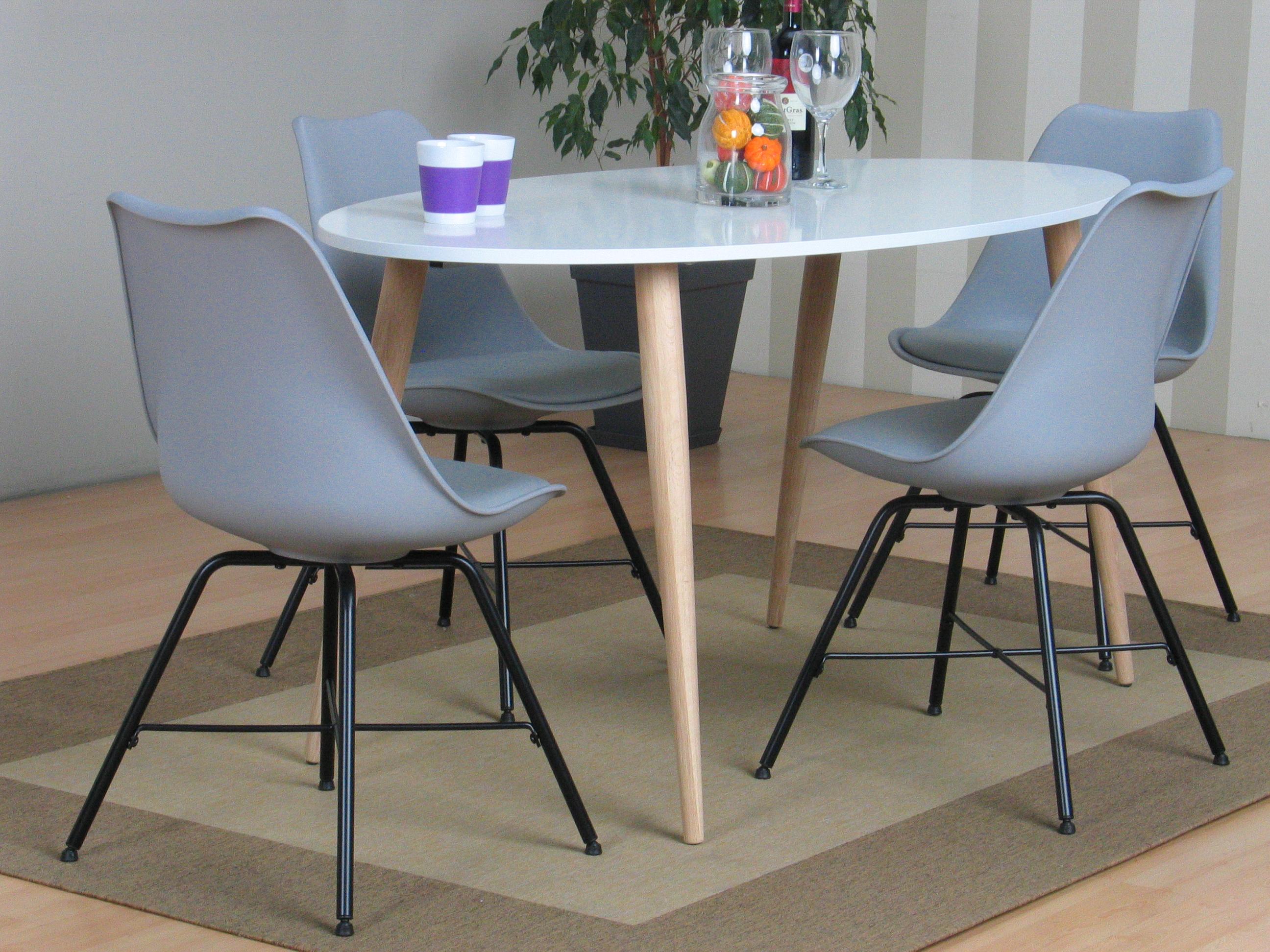 napoli esszimmergruppe 806 mit esstisch und 4 grauen schalenst hlen kaufen sie hier. Black Bedroom Furniture Sets. Home Design Ideas