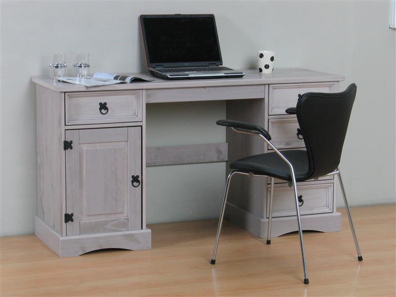 new mexico schreibtisch breite 141 cm h he 76 cm mit 5. Black Bedroom Furniture Sets. Home Design Ideas