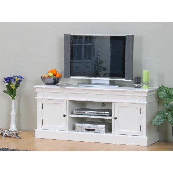 Amaretta tv-benk, bredde 137 cm, høyde 60 cm, antikk hvit