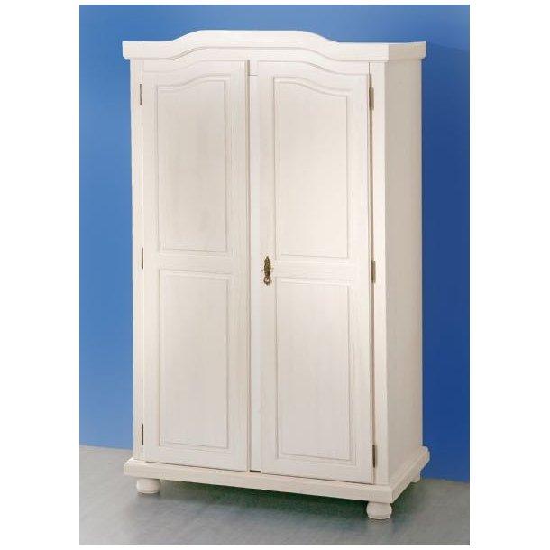 Hedda klædeskab 2 dørs bredde 104 cm, højde 180 cm hvid.