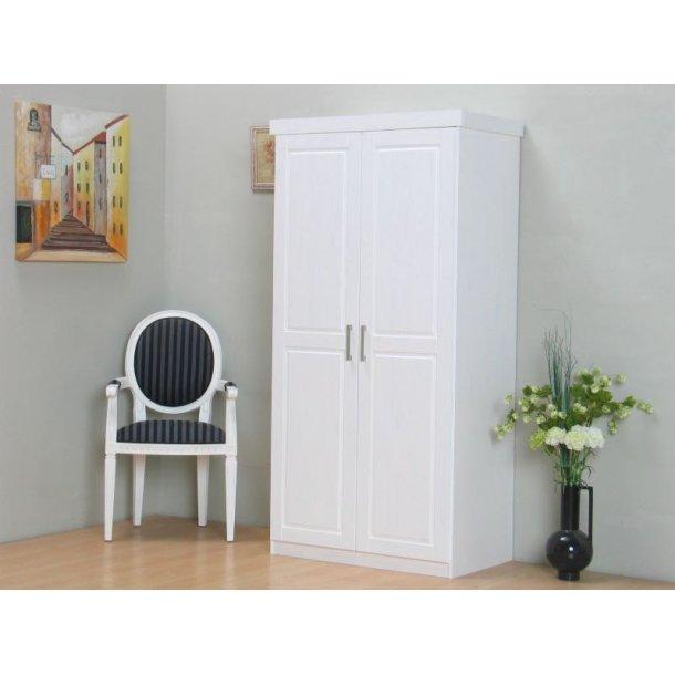 Magnus klædeskab 2 dørs bredde 95 cm, højde 190 cm hvid.