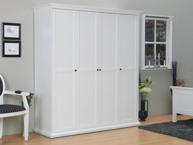 venedig kleiderschrank 4 trg breite 181 cm h he 200 cm weiss. Black Bedroom Furniture Sets. Home Design Ideas