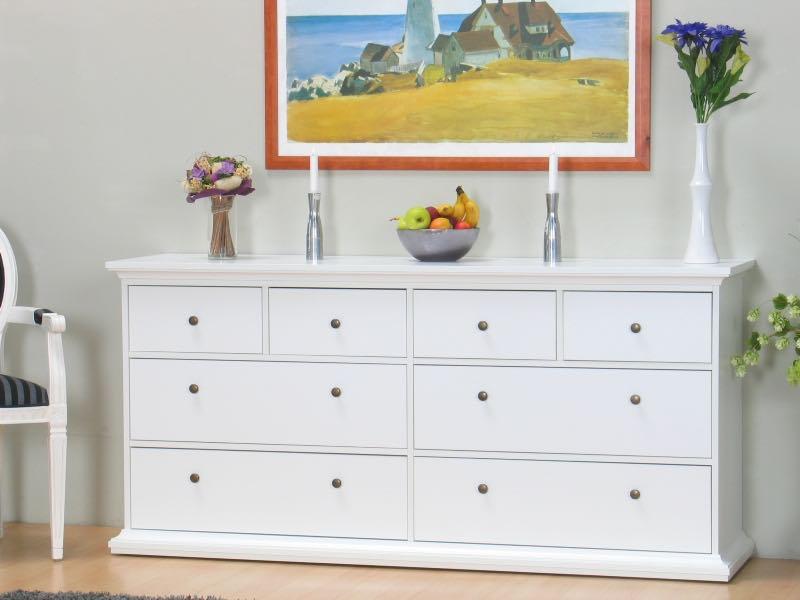 venedig kommode mit 4 grossen schubladen und 4 kleinen schubladen weiss kaufen sie hier. Black Bedroom Furniture Sets. Home Design Ideas