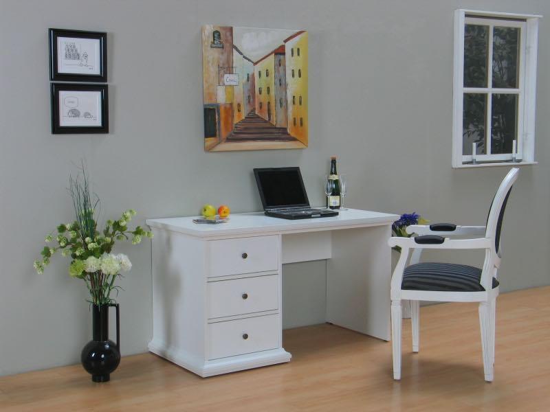 venedig schreibtisch mit 3 schubladen wei bestellen sie hier. Black Bedroom Furniture Sets. Home Design Ideas