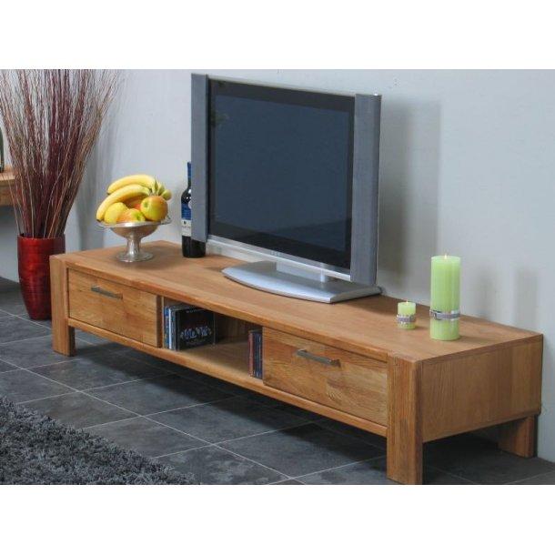 Mark TV/Hifi-møbel med 2 skuffer og 1 hylde, bredde 171 cm, højde 31 cm, eg.