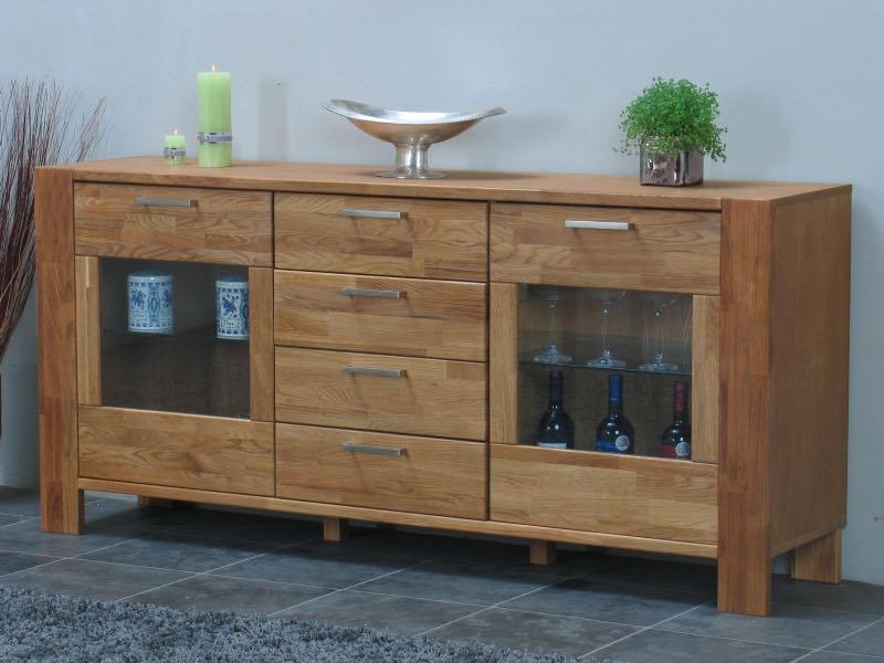 mark sideboard mit 2 t ren und 4 schubladen breite 171 cm h he 79 cm eiche kaufen sie jetzt. Black Bedroom Furniture Sets. Home Design Ideas