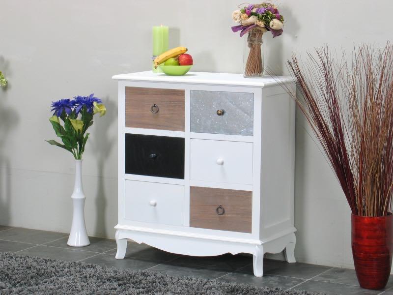 pamplona kommode mit 6 schubladen breite 72 cm h he 80 cm kaufen sie hier. Black Bedroom Furniture Sets. Home Design Ideas