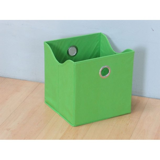 Marianne opbevaringskasse, tekstil, bredde 31 cm, højde 32 cm, grøn.