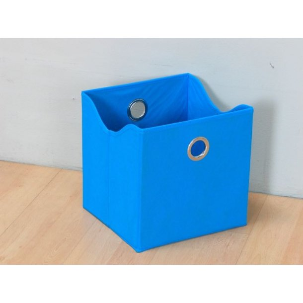 Marianne opbevaringskasse, tekstil, bredde 31 cm, højde 32 cm, blå.