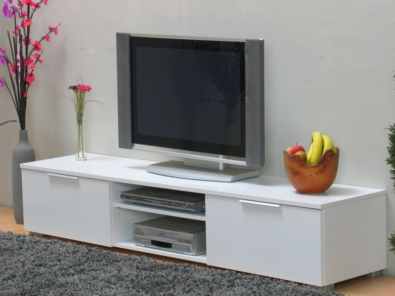 tv hifi m bel lackiert in wei hochglanz mit schubladen. Black Bedroom Furniture Sets. Home Design Ideas