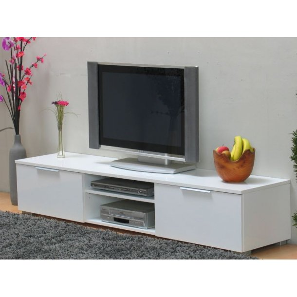 tv hifi m bel lackiert in wei hochglanz mit schubladen und ablagen schnelle lieferung. Black Bedroom Furniture Sets. Home Design Ideas