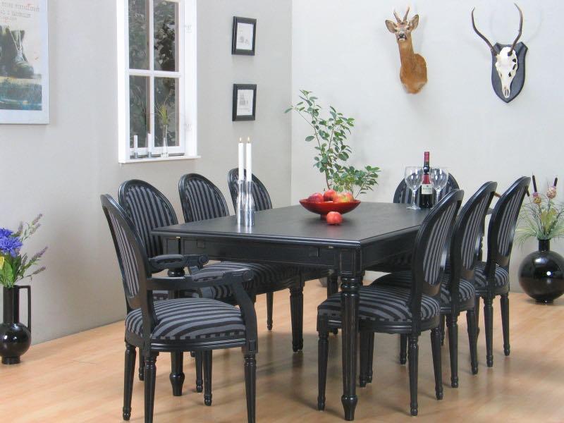 essgruppe amaretta rokoko mit 2 6 rokoko st hlen antik. Black Bedroom Furniture Sets. Home Design Ideas