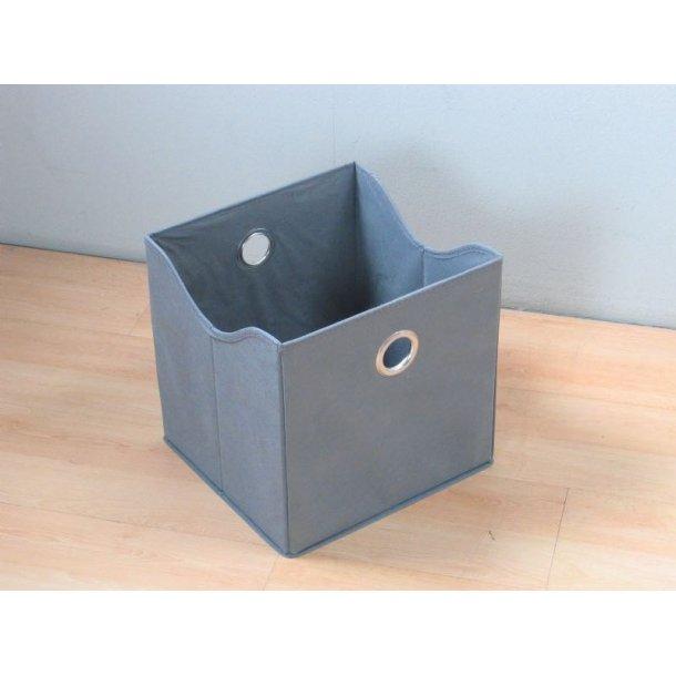 Marianne opbevaringskasse, tekstil, bredde 31 cm, højde 32 cm, grå.