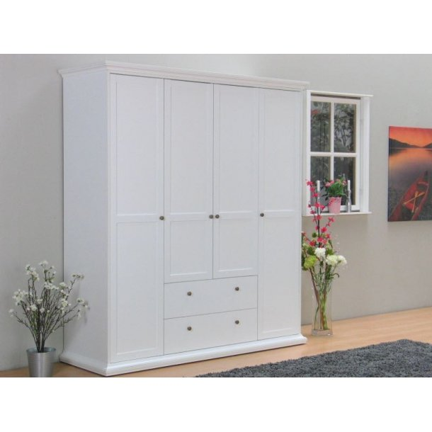 venedig kleiderschrank 4 trg mit 2 schubladen weiss bestellen sie hier. Black Bedroom Furniture Sets. Home Design Ideas