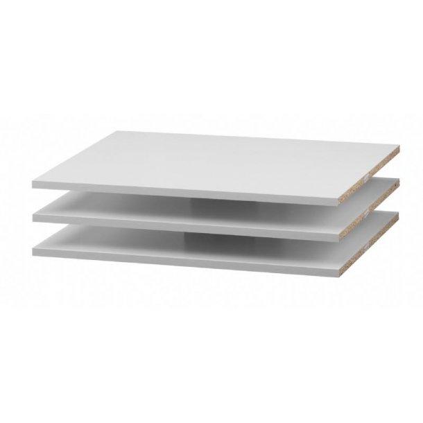Verona 3 ekstra hyller bredde 59 cm hvit.