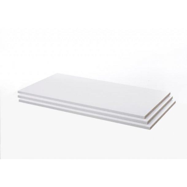 Verona 3 ekstra hyller bredde 89 cm hvit.