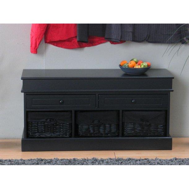 sitzbank emma mit schubladen und k rben schwarz schnelle lieferung lieferzeit 1 2 werktage. Black Bedroom Furniture Sets. Home Design Ideas