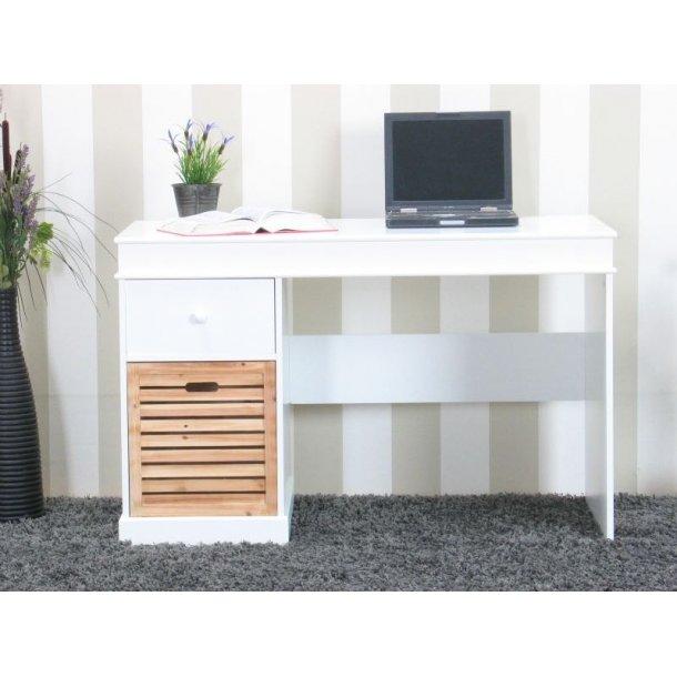 Anna skrivebord med 2 skuffer hvid, bredde 120 cm, højde 76 cm.