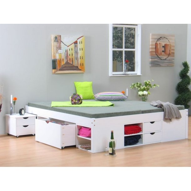 till doppelbett 140x200 cm einschl lattenroste weiss bestellen sie hier. Black Bedroom Furniture Sets. Home Design Ideas