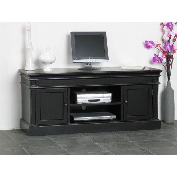 Amaretta Tv-benk med 2 dører og 1 hylle bredde 137 cm, høyde 60 cm antikk svart.